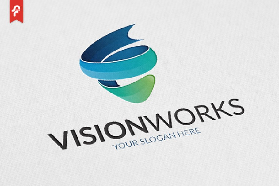 47c684e7ee Vision Works Logo ~ Logo Templates ~ Creative Market