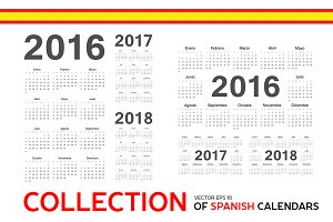 Collection of Spanish calendars