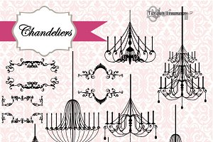 Chandeliers & Ornaments Vectors