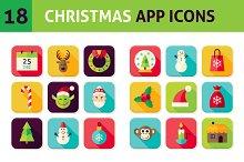 Christmas Vector Flat App Icons