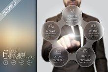 6 blur business infographics