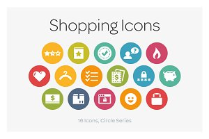 Circle Icons: Shopping