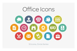 Circle Icons: Office