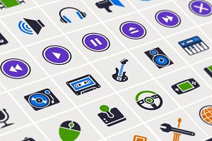 Media Icons Vector Set