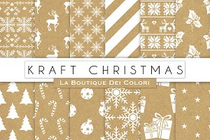 Kraft Christmas Digital Papers