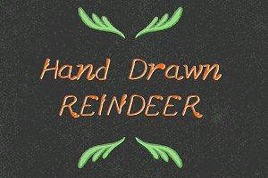 Hand-Drawn Reindeer Font