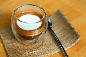 A cup of  espresso macchiato