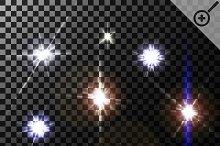 Set of lens flares