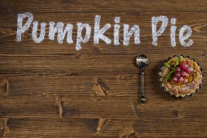 Traditional seasonal pumpkin pie