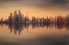 The beauty panorama of Dubai marina.