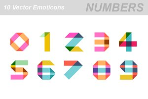 Numbers vector icons