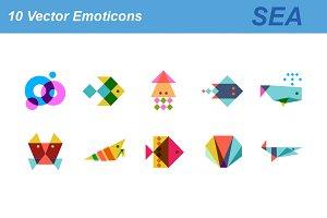 Sea vector icons