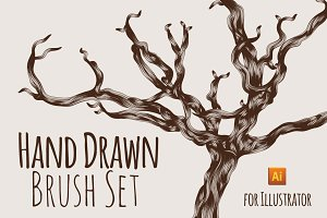 Vector Hand Drawn Sketch Brush Set