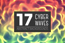 17 Cyber Waves Abstract Backgrounds