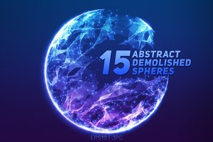 15 Abstract Demolished Spheres
