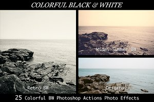25 BW Professional Photoshop Actions