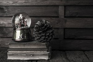 Christmas old still life background