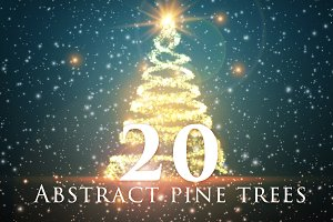 20 Abstract Pine Trees