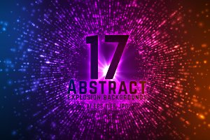 17 Abstract Explosion Backgrounds