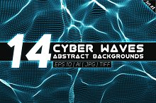 14 Abstract Cyber Waves Backgrounds