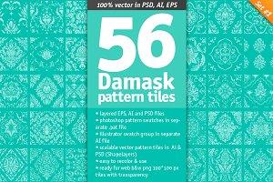 56 Damask Pattern Tiles