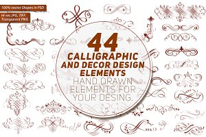 44  Calligraphic Design Elements