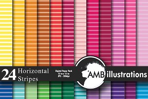 Digital Papers Stripes AMB-397