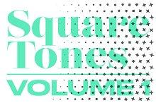 Square Tones | 20 Halftone Gradients