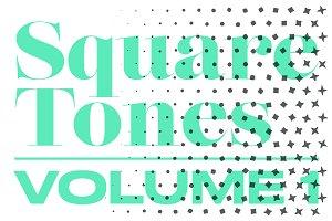 SquareTones1 | 20 Halftone Gradients
