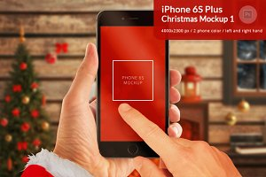 iPhone 6S Christmas Mockup 1