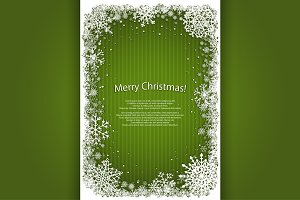 Set of vector Christmas frames.