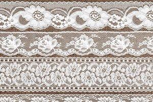 Vintage White Lace Borders Clipart