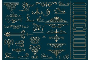 Vintage Ornaments. Design Elements