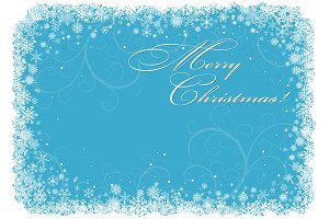 Blue Christmas Backgrounds. Vector.