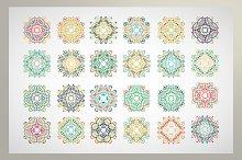 Set ornamental pattern