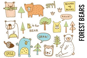 Forest Bears Nursery Illustrations