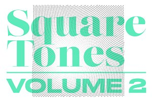 Square Tones | 20 Halftone Gradients