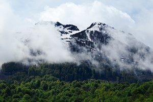 Snowy peaks mountains