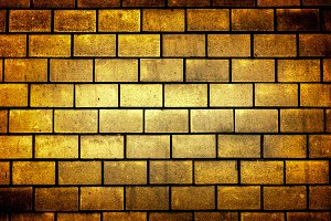 Texture of golden decorative tiles