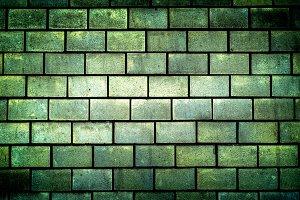 Texture of green decorative tiles
