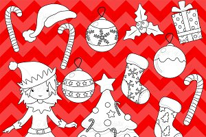 Christmas Decoration Digital Stamps