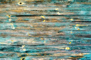 Cyan painted vintage wooden texture