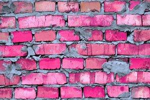 Glamour pink clay brickwork texture