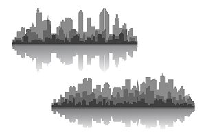 Modern cityscapes vector designs