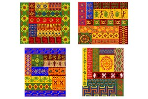Colorful African ethnic patterns