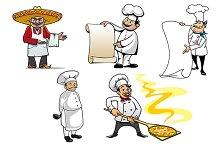 International chefs cartoon characte