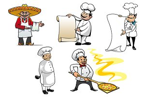 International chefs cartoon characte