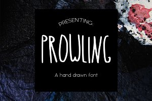 PROWLING hand drawn font