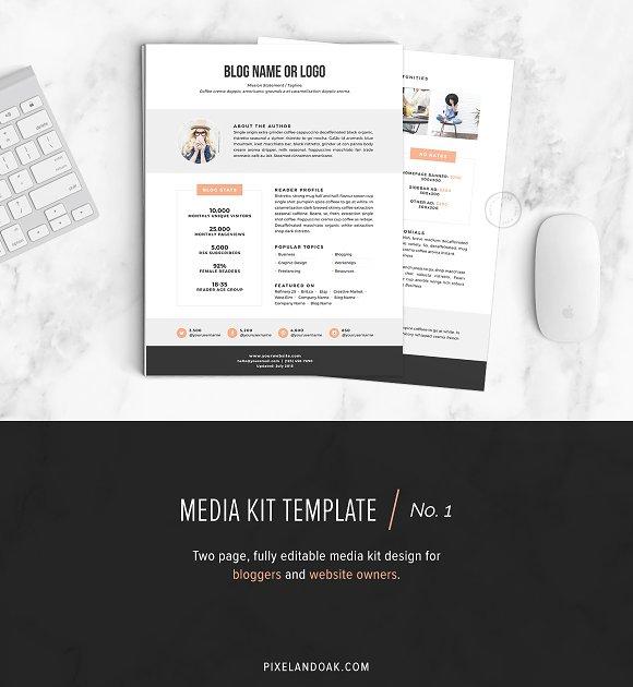 Media Kit Template | No.1 - Stationery
