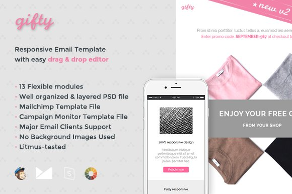 Gifty Email Template Builder Email Templates Creative Market
